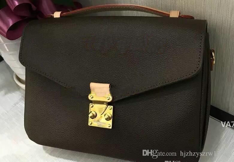 bolso genuino de la pochette Metis bolsas de hombro envío de la alta calidad de las mujeres de cuero bolsos crossbody mensajero bagM40780VA7