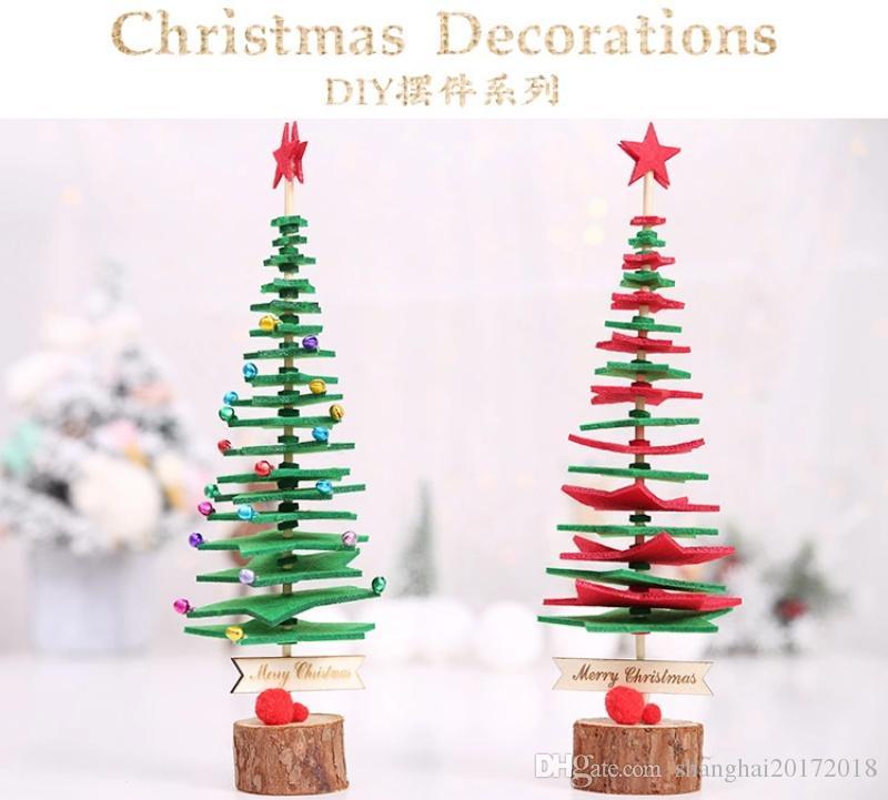 Table créative feutre de laine sapin de noël bureau de noël artisanat décor de fête ornements pour enfants cadeau Home Store décoration