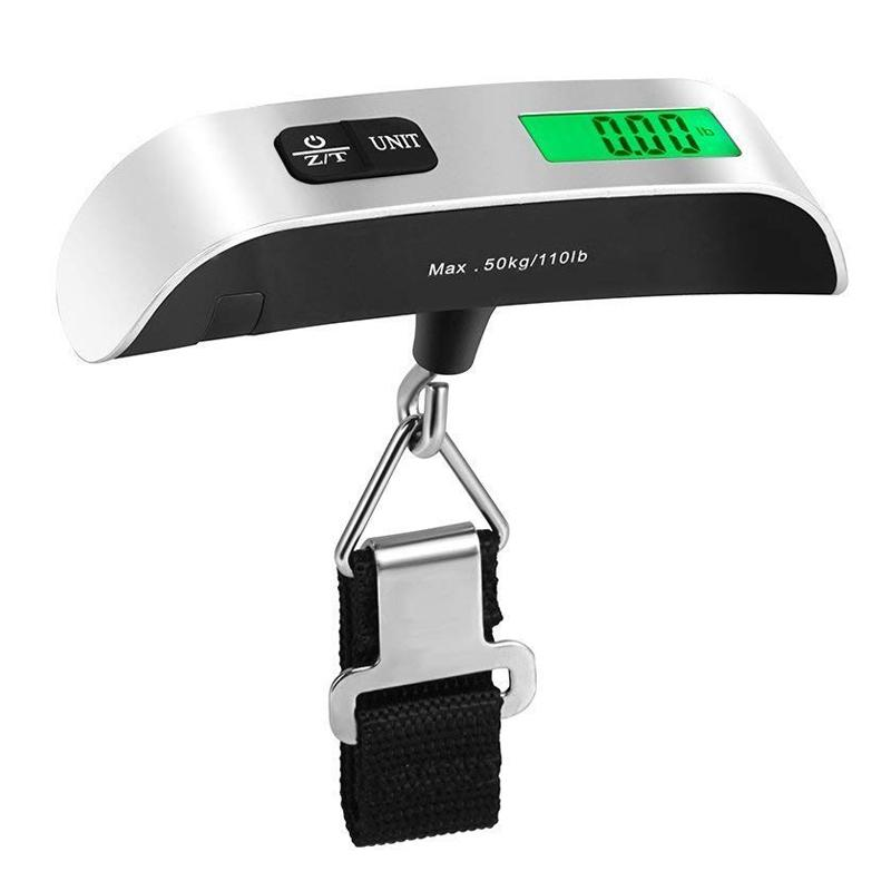 Mini Portable Luggage Scale 110lb/50kg Suitcases Scale For Luggage Hand Bags Travel Hanging Scales Weighing Balance