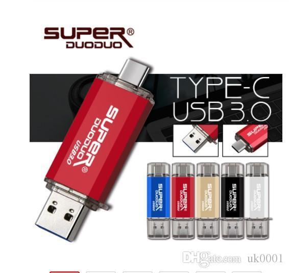 المملكة المتحدة UK ملون USB 3.0 TypeC USB فلاش حملة قياس جميع الترددات 16GB 32GB 64GB 128GB مفتاح USB عصا حملة القلم USB3.0 فلاش للهاتف TypeC