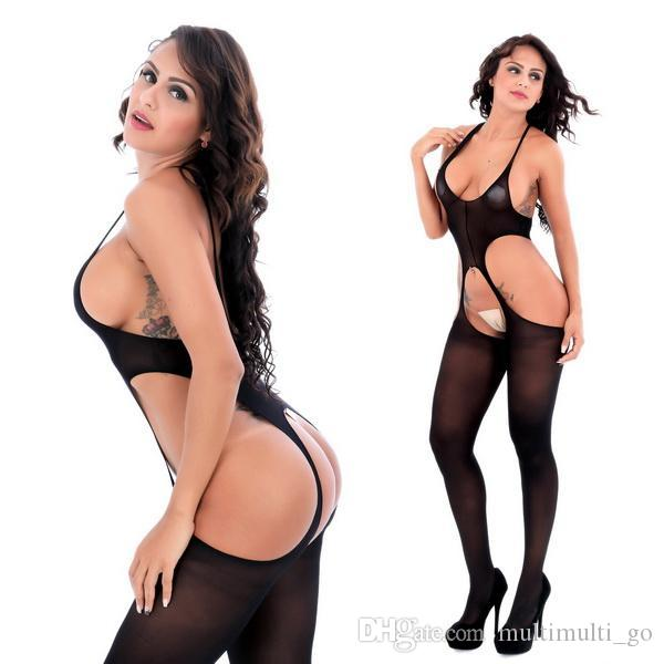 6108 여성 블랙 투명 섹시한 속옷 바디 스타킹 란제리 팬티 스타킹