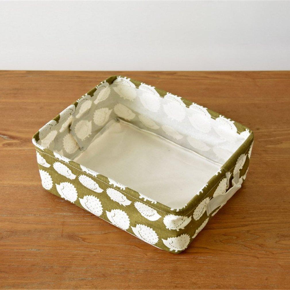 Japanese Belt Handle Desktop Storage Basket Hedgehog Cleaning Bag Bucket For Homeuse Bag Case Kep Bathroom