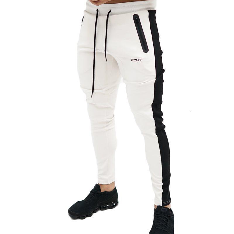 2019 Autunno Fitness Palestre Pantaloni da uomo Pantaloni a figura intera Pantaloni della tuta Pantaloni di moda Allenamento casual Allenamento Pantaloni da jogging in cotone T190906