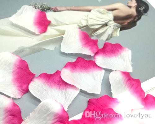 1000 قطع الوردي الأبيض الحرير الاصطناعي روز بتلات الزفاف الإحسان زينة حزب الحدث الديكور