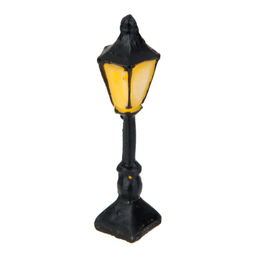 Street Light Square 2-Lamp Landscape Bonsai Dollhouse Miniature Craft Decor