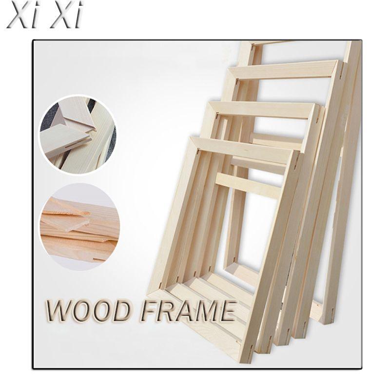 الخشب الإطار الداخلي وحة زيتية DIY مخصصة الصور الإطار من جانب أعداد قماش اللوحة الماس الصورة