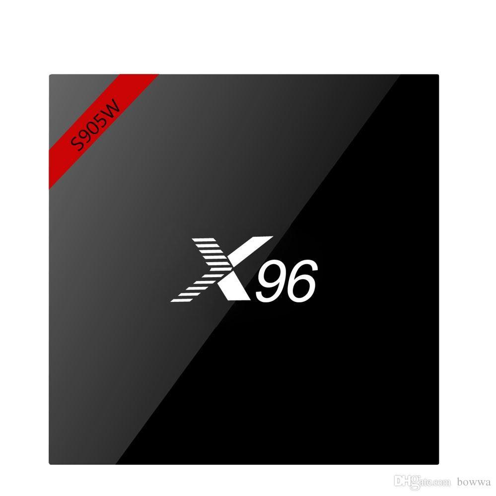 4K Android 7.1 TV Box Amlogic S905W Quad Core Original X96 1G 8G Wifi Google Media Player