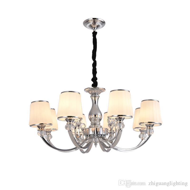European style living room chandelier atmosphere Luxury crystal chandelier home bedroom dining room lamp chandelier suspension