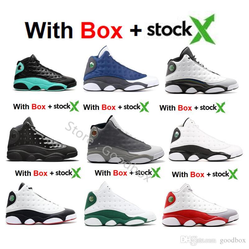 New version 13 Island Green 13s CNY Flint Cap and Gown Lakers He Got Game 13 With Box Basketball shoes Bred Wholesale Sneakers