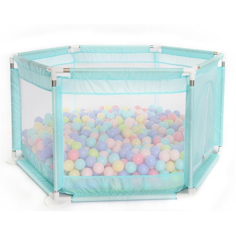 Parque infantil para niños hexagonal corral para jugar juguetes lavables Océano Ball Pool Set para bebés / niños / recién nacido / seguro de arrastre