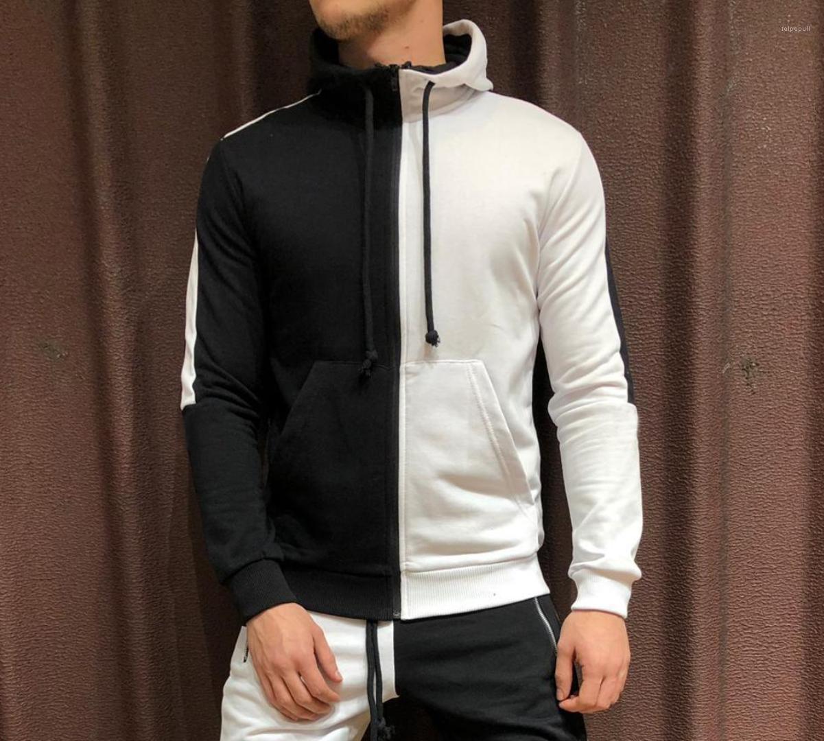 Designer Pulls Sweat-Shirts Automne Nouveau Hoodies Hommes Vêtements Printemps Couleurs Patchwork Zipper Up