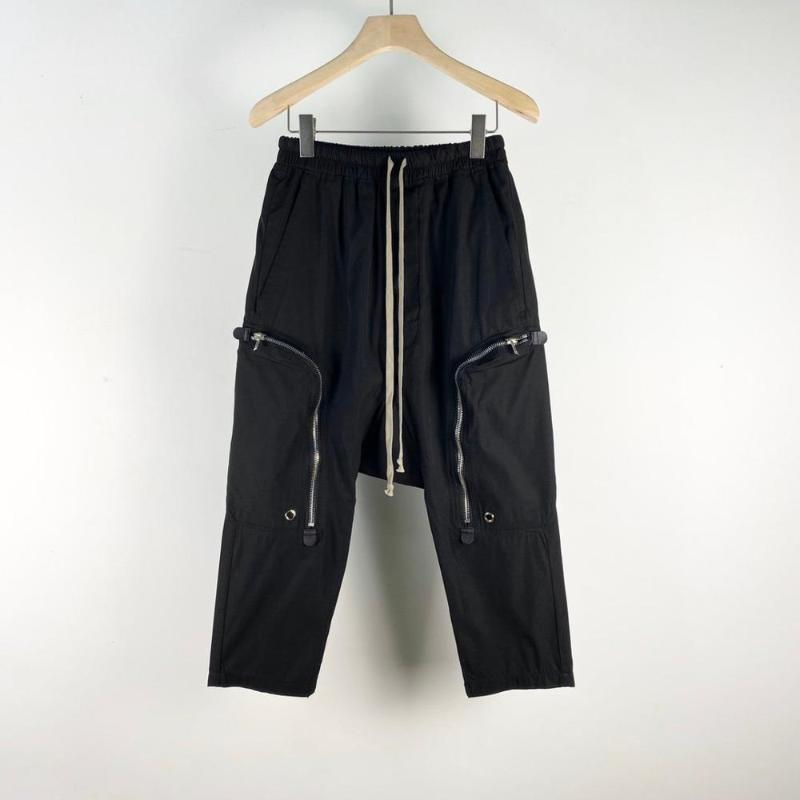 20SS Owen Seak Men Casual Гарем готические брюки хлопка высокого уличной одежды для мужчин Hip Hop Sweatpants Summer Cross Сыпучие Черные брюки