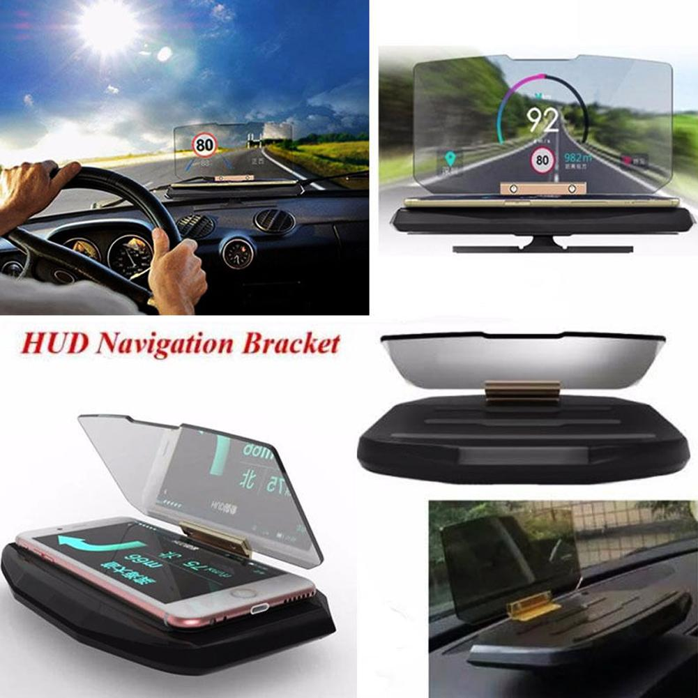 HXLMOTOSTORE UNIVERSAL MOBILE GPS GPS Bracket HUD Head Up Display per Smart Phone Auto Mount Supporto per telefono