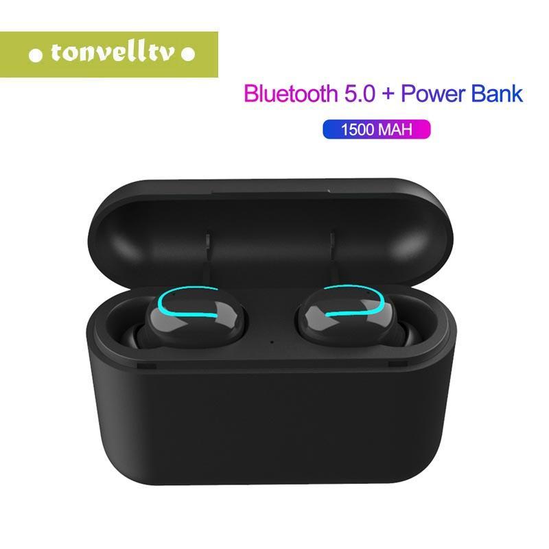 Q32 Bluetooth 5.0 Kopfhörer TWS Drahtlose Kopfhörer Blutooth Kopfhörer freihändiges Kopfhörer Sports Earbuds Gaming Headset Telefon