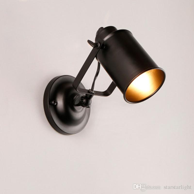 stile industriale parete lampade d'epoca luci della parete del LED per la lampada della casa della parete Loft decorazione per Bar Bagno Camera Retro illuminazione del riparo Apparecchi