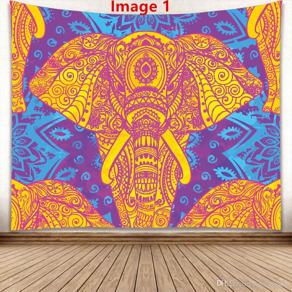 새로운 손 홈 태피스트리 배경 벽에 매달려 그림 제조 업체 매달려 직접 판매를 천으로 벽에 걸려 코끼리 태피스트리를 그린