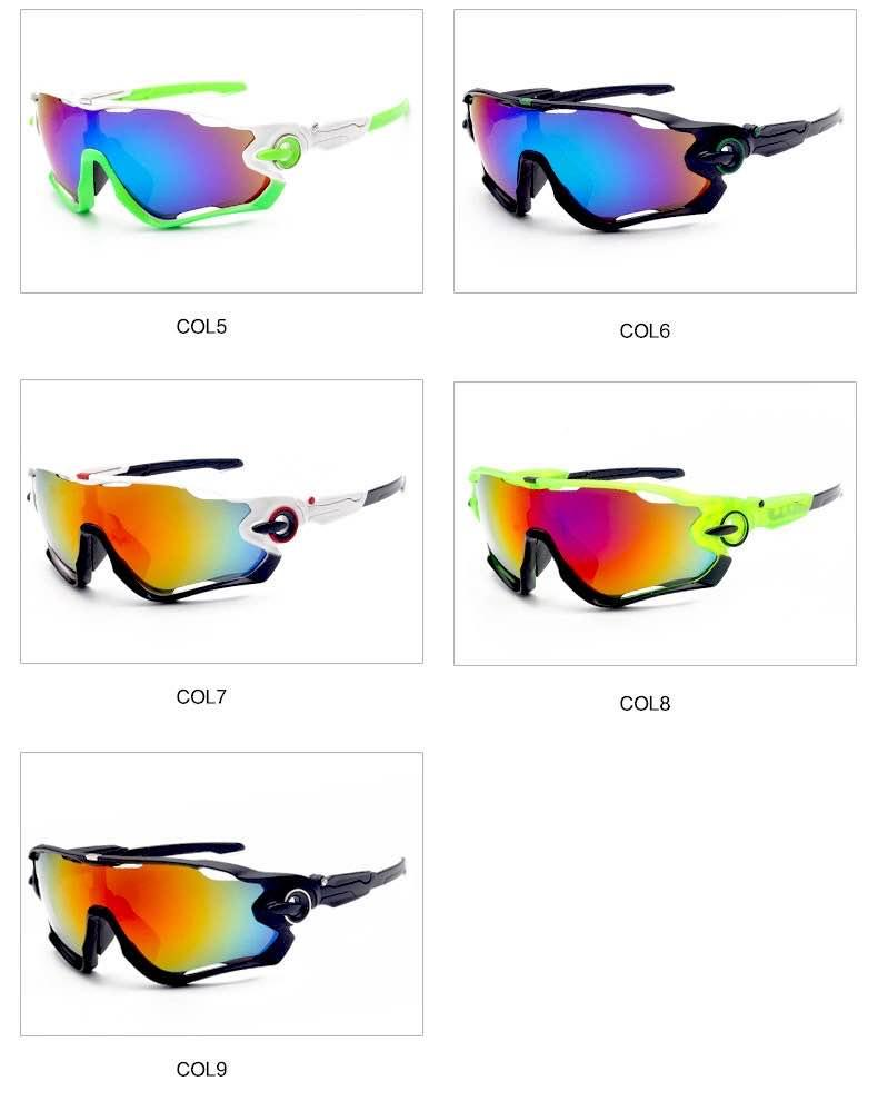 High quality outdoor sports sunglasses ski tactical protective glasses multiple colors riding polarized windshield windproof windproof fashi