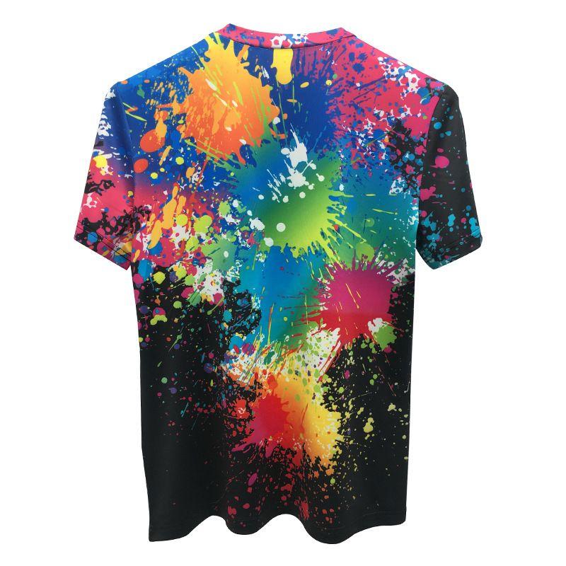 2019 verão novo 3d digital graffiti impressão em torno do pescoço de manga curta t-shirt hip-hop estilo senhoras camisa atacado