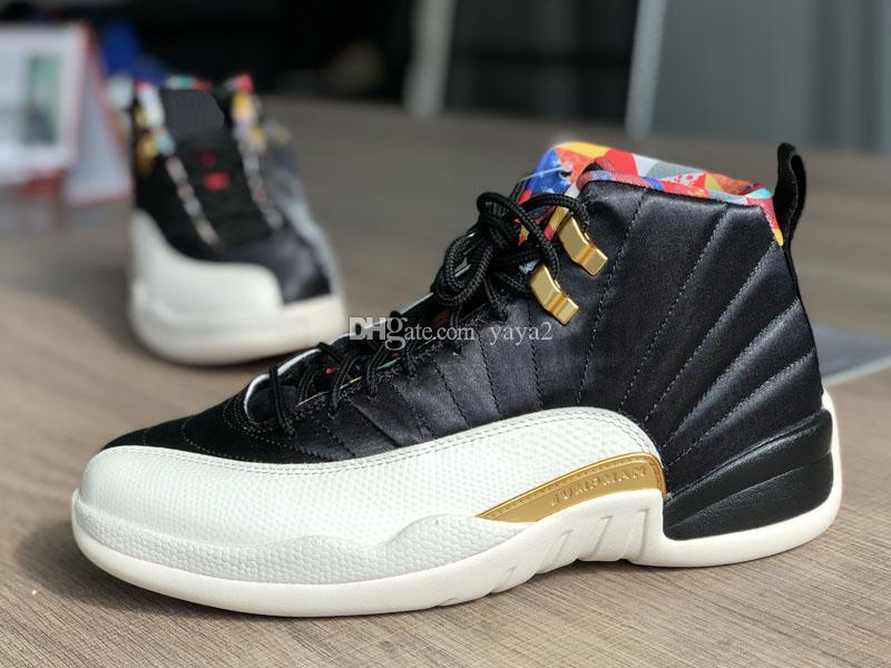 High Quality 2019 New 12s Fish snake Men Kids Basketball Shoes Jumpman 12 CNY White Black Gold Sports Sneakers shoes