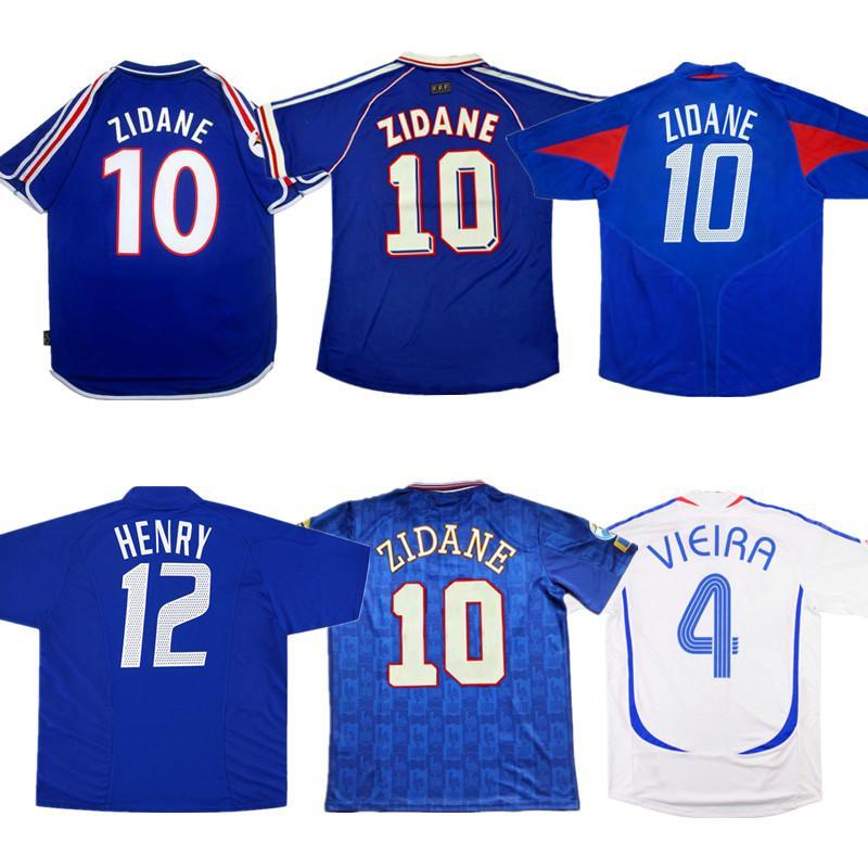 2020 Retro France Zidane Soccer Jersey 1984 86 1996 1998 2000 2002 2004 2006 French Henry Vieira Anelka Football Shirt Trezeguet Ancient Maillot From Zouhenghaha 14 18 Dhgate Com