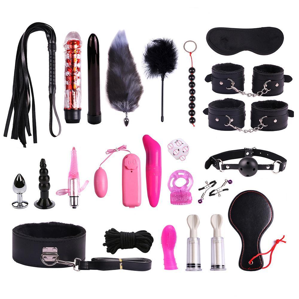 Giocattoli del sesso Manette / Anale BDSM Bondage Butt Adulto per GAG / WHIP / SM Ball / Pallone / Capezzoli Set di clip Y200616 Plug donna / Blindfold / Bocca Giochi Plug Ksitl