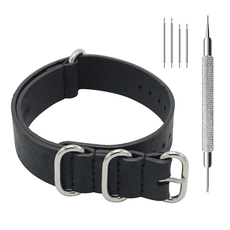 Megalith 18 milímetros 20 milímetros 22 milímetros Top grão couro genuíno couro Assista bracelete Militar Esportes Relógios bandas para Homens Mulheres Nato Strap G3
