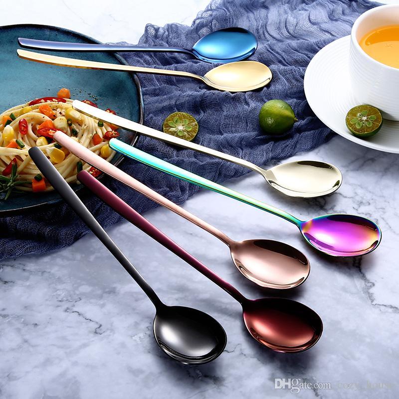 Набор столовых приборов с ложкой и вилкой Набор столовых приборов с ложкой и чайной ложкой Столовая посуда из нержавеющей стали