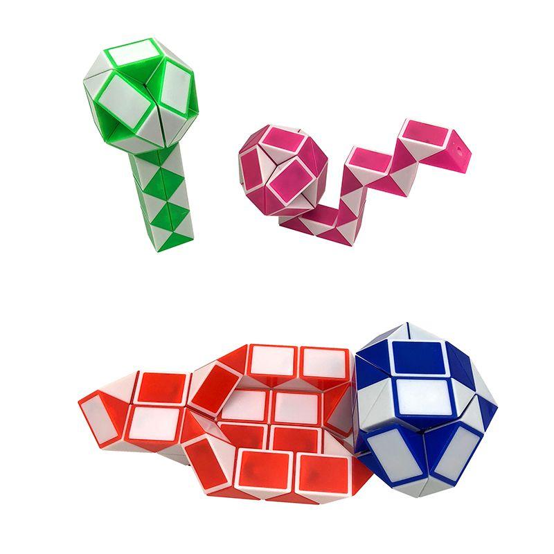 Mini Cubo Mágico Gobernante Forma de Serpiente de Juguete 36 segmento 3D Cubo Rompecabezas Rompecabezas Puzzle Juguete de Regalo Regalo de Inteligencia Aleatoria Supertop regalos