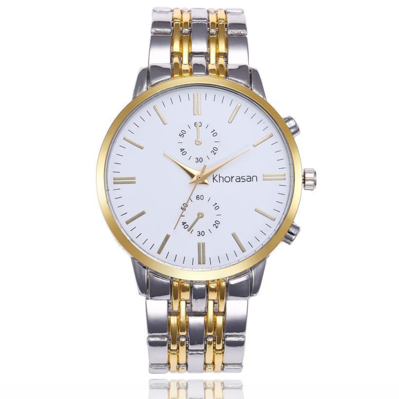 1Fashion Мужские Часы Лучший Бренд Класса Люкс Мужчины Из Нержавеющей Стали Аналоговые Кварцевые Часы мужские Бизнес Стиль Черный Наручные Часы Reloj