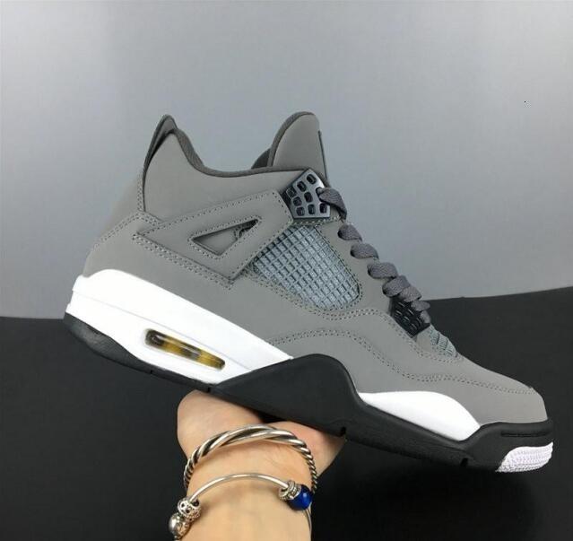 Sale 4 Cool Grey Dunkel Charcoal Varsity Maize Mann Designer Basketball-Schuhe beste Qualität Schiff mit Doppel Box