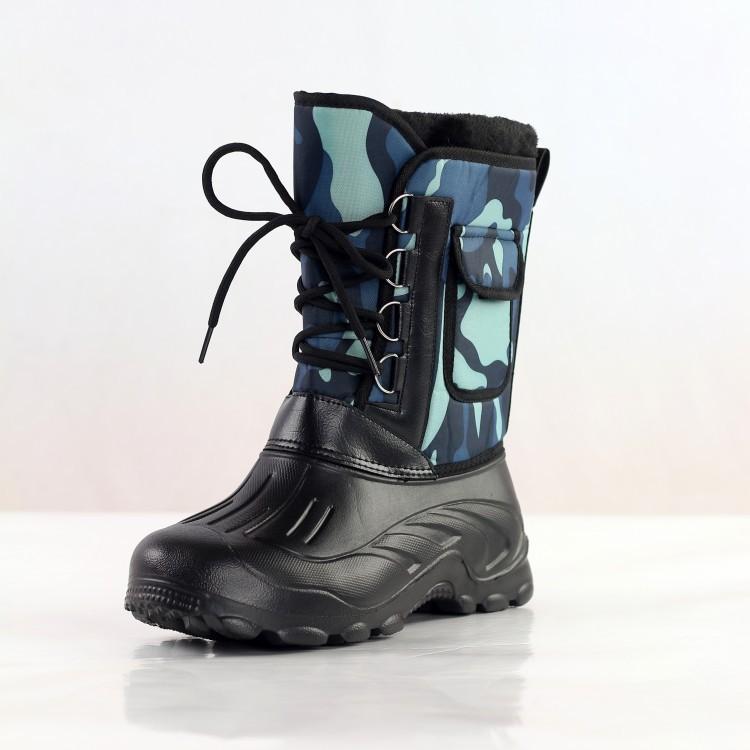 Hot Sale-Men Fischerstiefel Tarnung Männer Ankle Boots Schnürschuhe mit Fell Casual Male Winter warm Schnee Stiefel