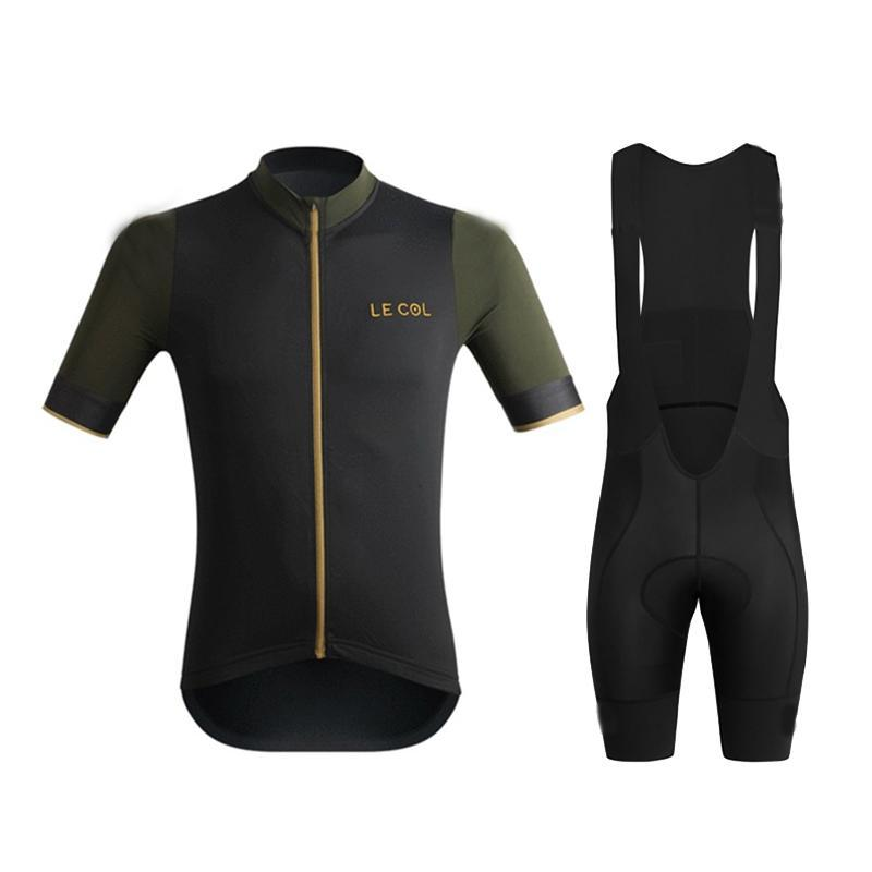 Le col 2020 Men Cycling Set Cycling Jersey Set Road Bicycle Wear Breathable Anti-UV MTB Bike Clothes Clothing Triathlon