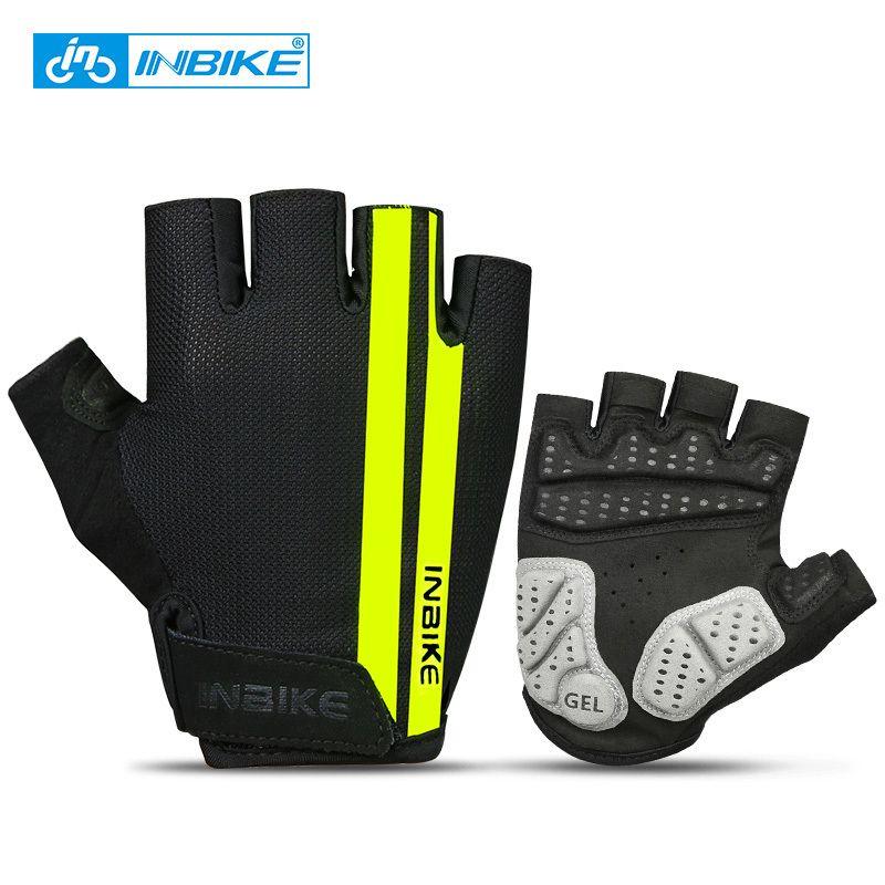 INBIKE Cycling Gloves Half Finger Anti Slip Gel Pad Breathable Motorcycle MTB Road Bike Gloves Men Women Sports Bicycle Gloves C18110801