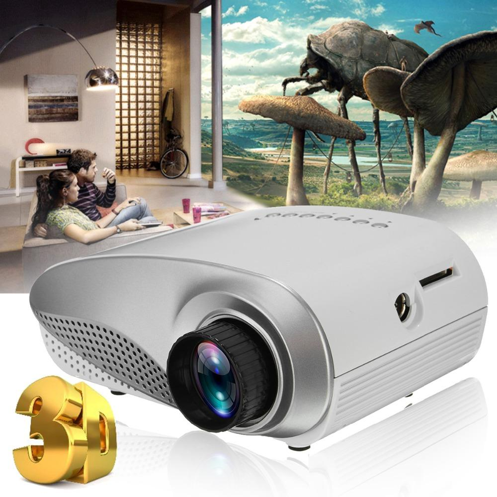 VGA HDMI TV Home System Teatro New Mini Projector Full HD portátil 1080P HD 3D LED projetor multimídia Home Theater USB