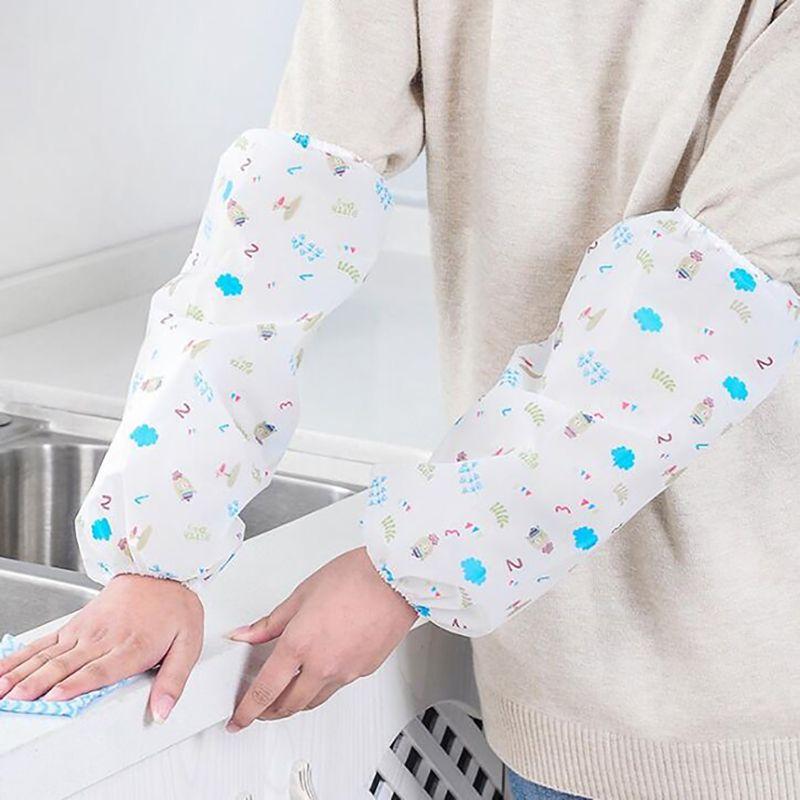 1 pair di alta qualità Maniche Lunghe braccio Poliestere Materiale Antivegetativa impermeabile Oversleeves cucina di Casa Accessori per la pulizia