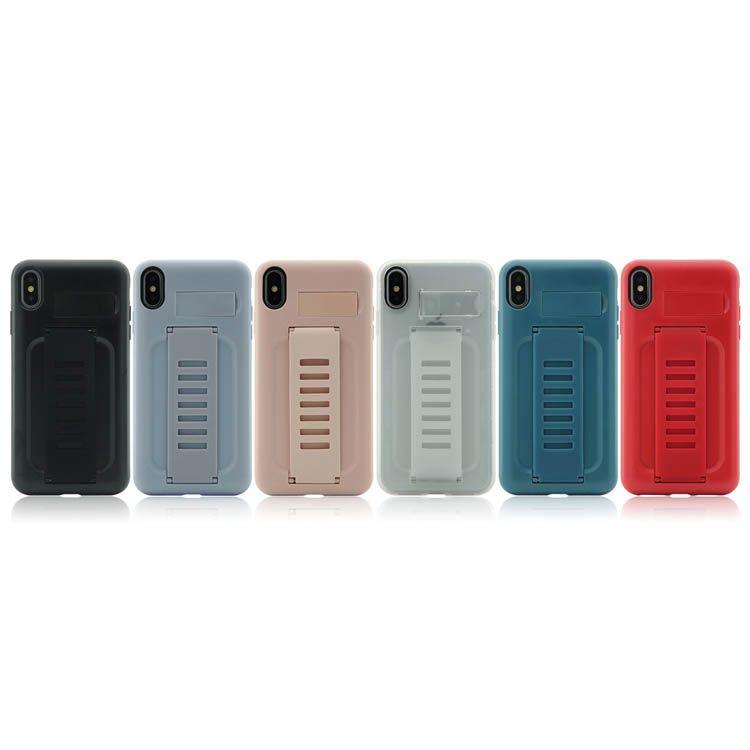 Гибридный резиновый клип чехол сверхмощный PC сотовые чехлы PCU полный защитный держатель оболочки для Apple iPhone 8Plus XR X MAX 11