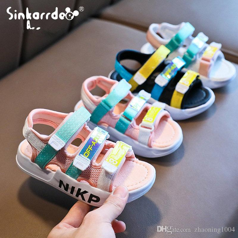 Color : Flower , Size : 24 EU Non-Slip Girls Spring Summer Comfortable Leather Sandals Kids Low-Top Casual Shoes Durable