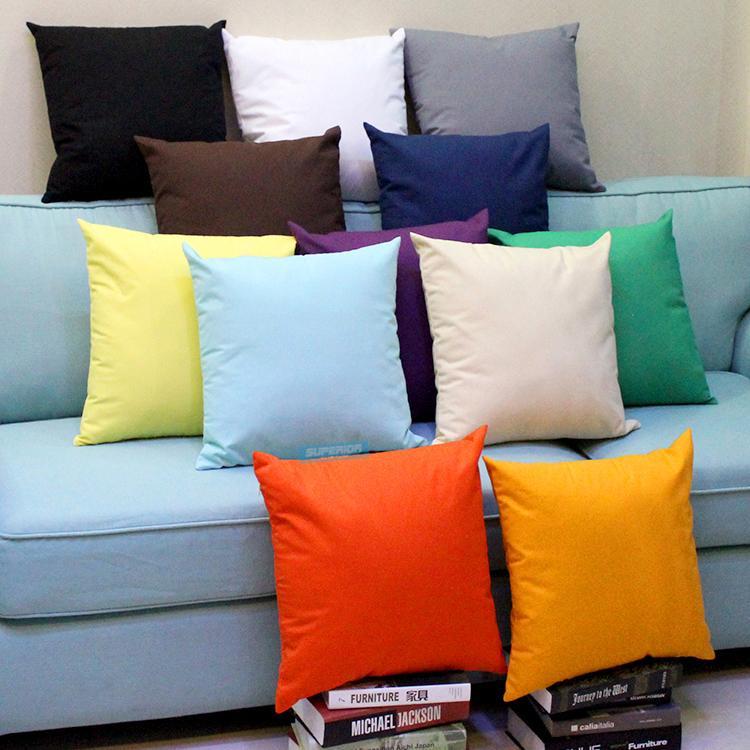 100pcs Toutes les tailles 8 oz Plain Teints en toile de coton Taie Couleurs solides vierges Home Décor oreiller couverture Plus de 100 couleurs En stock