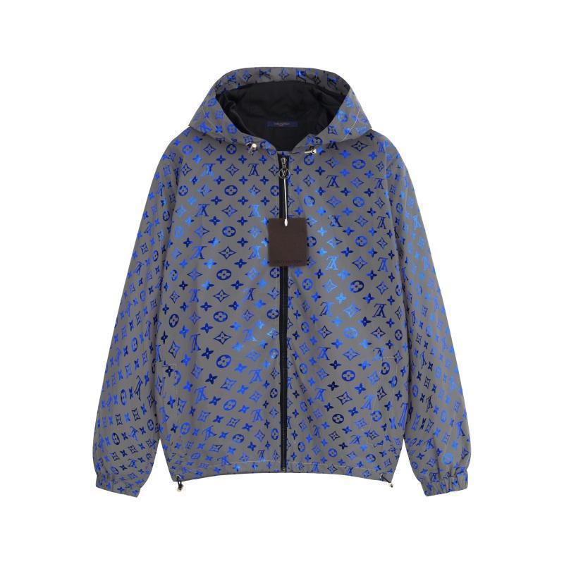 Erkekler Ve Kadınlar Coat Mektupları Yansıtıcı Ceket Boyutu için Mens Ceket Tasarımcı Kapşonlu İlkbahar Sonbahar Fermuar WINDBREAKER Gevşek Yıldız Baskı