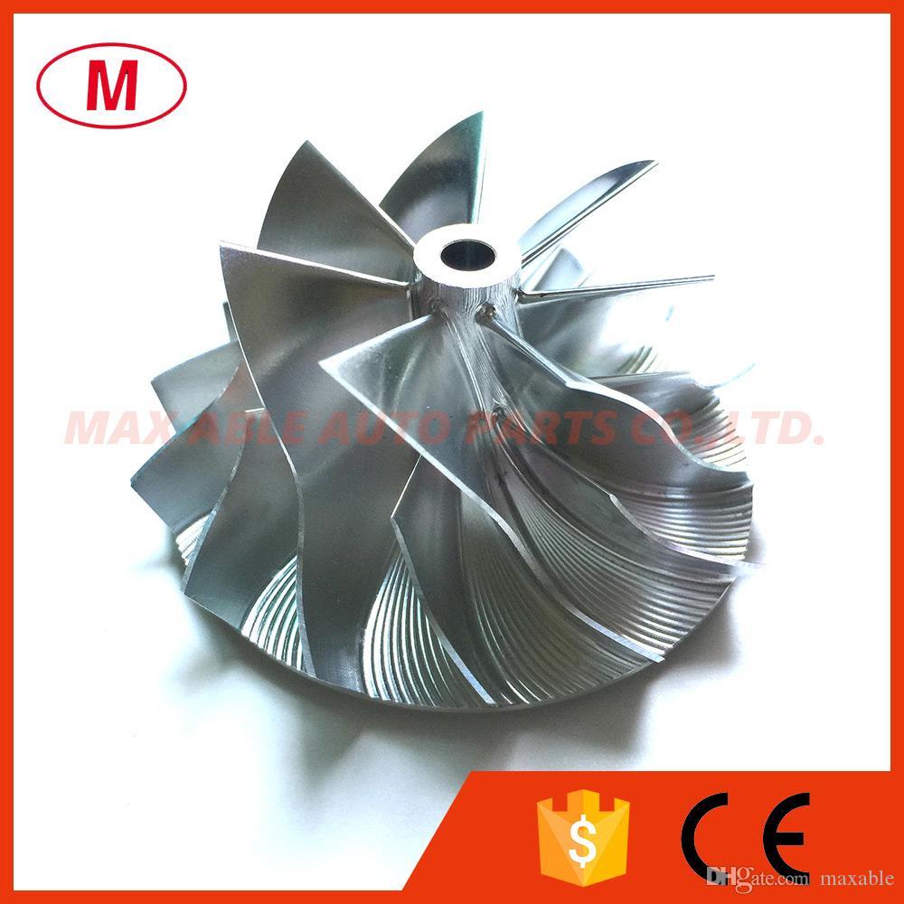 TD04HL 44.00 / 62.00mm 7 + 7 cuchillas Turbo aluminio 2618 de alto rendimiento / Rueda de compresor de fresado / Rueda de compresor Turbo Billet Turbo CHRA / Núcleo