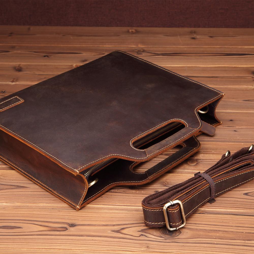 GUMTS Hommes Sac 13 'Sac Ordinateur portable En Cuir Entreprises Business Homme Porte-documents Bolsa Maleta Messenger Homme Messenger Jegxm