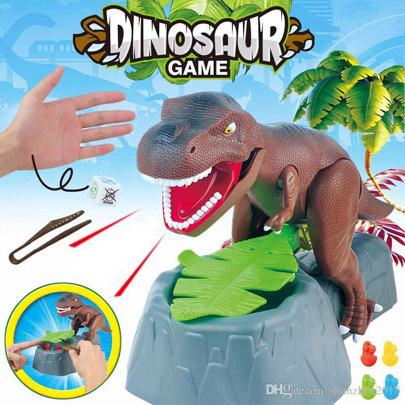 Electric Dinosaur Model board game Sound Effect and Two Arms Movable Cross-border Desktop Game Trick Toy Biting Finger Dinosaur