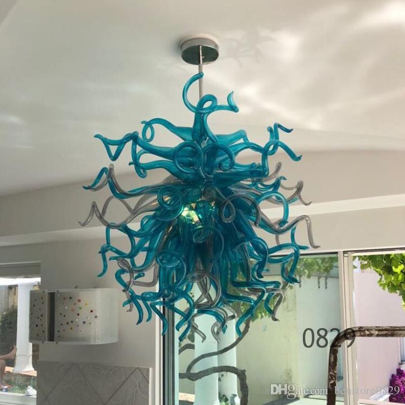 Lámpara de araña de la vendimia para el hogar LED lámpara de cristal hecho a mano para el Hotel Vestíbulo de tamaño pequeño colgante ligera colgante