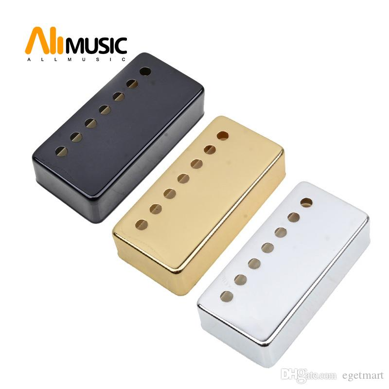 Brass 7 Hole 7 String Pickup Humbucker Cover 80*39mm Pole Spacing 58/62mm for LP Electric Guitar - a set of 2pcs