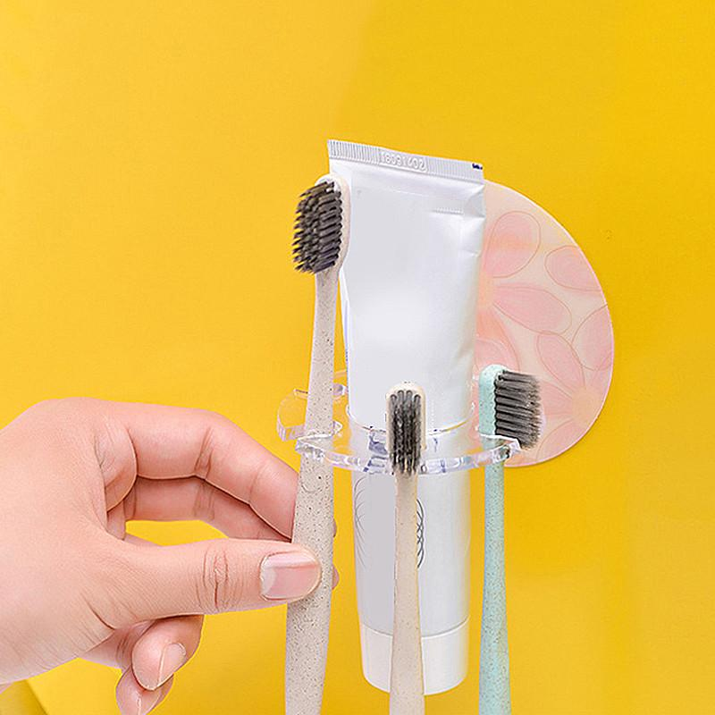 2020 nouvelle salle de bains Accessoires disque multicarte fente Porte-Brosse à dents Brosse à dents Porte Organisateur Hanging Ensemble de rangement mural Brosse à dents