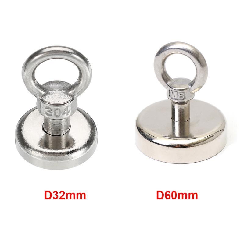 Heavy Duty neodimio Holder magnete di sollevamento di recupero Pot Super anello magnetico Metal Detector Treasure Hunting forti magneti