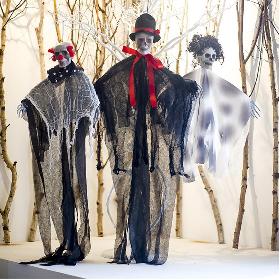 Хэллоуин Скелет Decration Скелет Висячие реквизиты Party Bar Висячие макеты Реквизит Хэллоуин Декорации Инструменты 3 стиля RRA1998