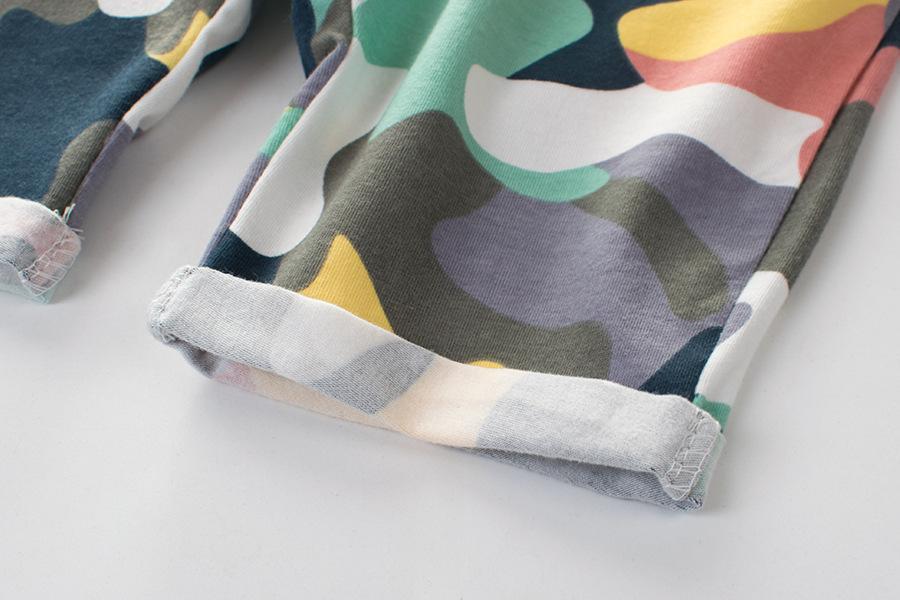 2019 Летней одежда Нового стиль BOY'S камуфляжных штанов чистый хлопок лайкр корейского стиль Childrenswear ДЕТСКИХ шорты Гусеничного Gener