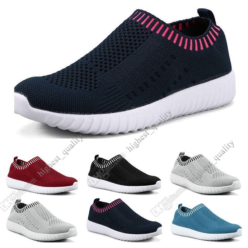 Melhores sapatos de tamanho grande das mulheres de venda voando as sapatilhas das mulheres um pé respirável sapatos leves esportivos casuais tênis Cinco