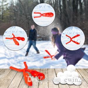 Boule de neige Maker jouets d'hiver en plein air Jouets de neige avec deux balles pour Snow Ball Combats Fun Activités d'hiver avec Faire des boules de neige rapidement